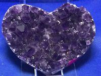Amethyst Geode Heart A Grade Amethyst Druzy Crystals Mineral Gemstone Uruguay