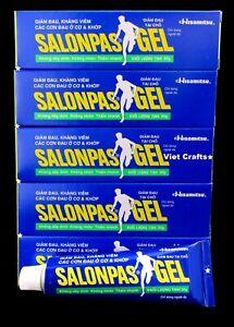 5 Tubes Salonpas Gel (30g) / Soulagement Douleurs: Dos, Articulations, Muscles