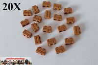 20X Lego® 98283 Mauerstein Ziegel Masonry 1X2 Nougat Hellbraun M. Dark Flesh NEU