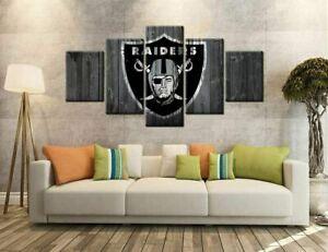 Las Vegas Raiders 5PCS Canvas Prints Painting Multi-Panel Wall Art Room Decor