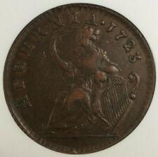 1723 Hibernia Colonial 1/2 Half Penny Coin NGC XF-45 BN