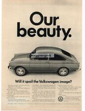 1967 Volkswagen VW Fastback Hatchback Our Beauty Vtg Print Ad