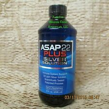 ASAP 22 PLUS LIQUID 22PPM 8 OZ SILVER SOL SOLUTION IMMUNE SYSTEM SUPPORT