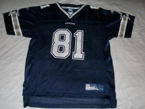 Terrell Owens 81 Dallas Cowboys NFL Blue Reebok Jersey Boy's Youth XL 18/20 used