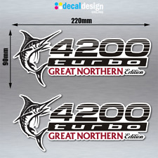 Landcruiser 4200 Turbo Great Northern Edition Stickers x 2 for Toyota 4WD Decal