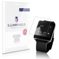 iLLumiShield Watch Screen Protector w Anti-Bubble/Print 3x for LG G Watch