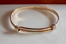 Ed Levin Jewelry 14k Gold Expandable Signature Bracelet 6 1 2 Inch Lc A
