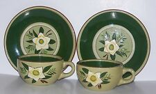 Stangl Pottery Star Flower Cups and Saucers (2 each)