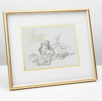 DISNEY COLLECTABLE FRAMED PRINT OF BELLE BEAUTY AND THE BEAST FROM WIDDOP AND CO