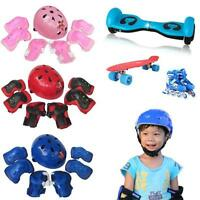 Portable 7pcs Kid Child Self Balancing Bike Roller Knee Elbow Wrist Helmet Pad H