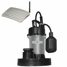 Bur-Cam 300500ZSP - Wi-Fi Water Watcher 1/3 HP Cast Iron Submersible Sump Pum...