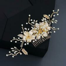 Hair Jewelry Hair Accessories Hairpin Hair Comb Shiny Rhinestone Inlaid Flower