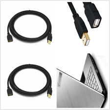 2Pack 3M (10Ft) TYPE A MALE TO TYPE A FEMALE USB 2.0 EXTENSION CABLE BLACK