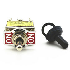 New Toggle Switch 6Pin DPDT 3 Position Momentary (ON)-OFF-(ON)  Waterproof cap