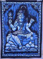 Indian Hindu God SHIVA Sitting Meditation Wall Hanging Tapestry Yoga Mat Wall