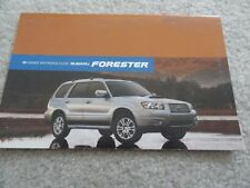 subaru forester other manuals literature for sale ebay rh ebay com 2006 subaru impreza owners manual 2006 subaru outback owner's manual