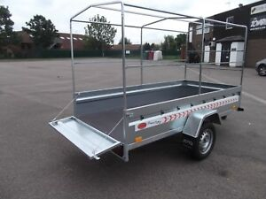 NEW Trailer Box Camping Car 9FT x 4FT 2,70 x 1,32 m +150cm TOP COVER !!