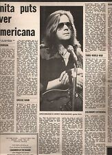 GREASEBAND Kensington Poly concert review 1971 UK ARTICLE / clipping