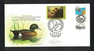 MAFD199) Australia 1990 Wetlands Conservation - Chestnut Teal Duck Cover