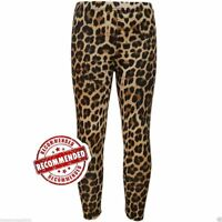 New Girls Kids Leopard Print Leggings Animal Striped New Age 7 8 9 10 11 12 13