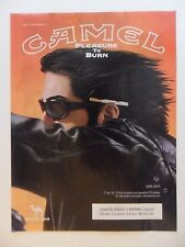 2006 Print Ad Camel Cigarettes ~ Pleasure to Burn Motorcycle Rider ART