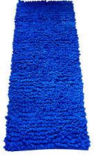 BLUE RUG - BLUE RUNNER - CHENILLE JUMBO LOOP RUNNER - BATHROOM MAT - BEDROOM RUG