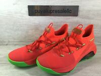 """Men's Under Armour Curry 6 """"Roaracle"""" Red Basketball Shoes 3020612-607 Size 10.5"""