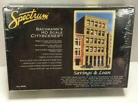 NIB SEALED Spectrum Bachmann's Cityscenes Savings & Loan 88008 HO Scale Model
