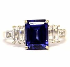 14k white gold CZ cubic zirconia created sapphire band ring 2.8g estate vintage