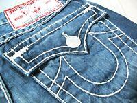 *HOT USA Men's TRUE RELIGION @ JOEY SUPER T Low FLARE BOOTCUT DARK Jeans 29 x 30