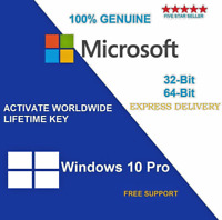 INSTANT WINDOWS 10 PROFESSIONAL PRO OEM 32|64 BIT GENUINE ACTIVATION KEY LICENSE