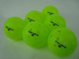 NEW 6 Dura Outdoor Pickleball Balls DuraFast 40  Neon Green set of 6