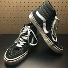 VANS SK8 Hi High Top Black White Canvas Skate Shoes Mens 6.5 Womens 8 USA Seller