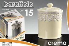 BARATTOLO 15CM CERAMICA CREMA BEIGE ECRU VINTAGE TONDO CUCINA ORGANZA SAP 633812