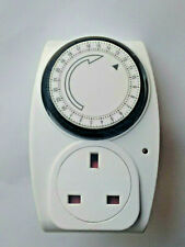 2 x 24 Hour Masterplug Mains Plug-n Timer, Lamps, Radio etc. LED Indicator