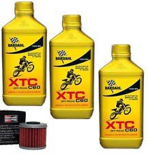 KIT TAGLIANDO BARDAHL XTC 10W50 4 T CROSS + FILTRO OLIO HONDA CRF 450 2008
