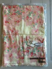 Susannagh Grogan 'Blossom' Long Scarf Pink Cream Summer Lightweight