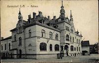 Hermsdorf in Sachsen Anhalt alte Ansichtskarte ~1910 Straßenpartie am Rathaus
