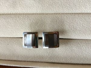 DUNHILL Sterling Silver Mother of Pearl Cufflinks