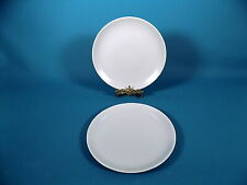 Poole Pottery Twintone Mushroom Dinner Plates x 2
