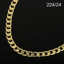 Men's 14K Yellow Gold Plated 24 Inches Cuban Link Chain Necklace 6 mm (224 / 24)