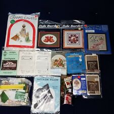 Large Lot of Vintage to Modern Crafting Kits ~ Cross Stitch, Embroidery, Canvas,