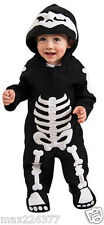 New Fleece Skeleton bones skull Halloween Costume Infant baby 6-12 Months