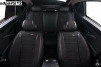 Fiat Peugeot Toyota Coprisedili Nero Tessuto Traspirante Ecopelle Intero Fodere