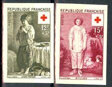 France, timbres N° 1089 et 1090 non dentelés, neufs *, TB