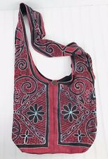 Women's Floral Flowers Boho Hippie Hobo Bag Handbag Red Blue Large