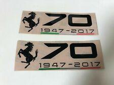 1947-2017 Ferrari 70th Anniversary Badge Stickers Set Black with Italian Flag