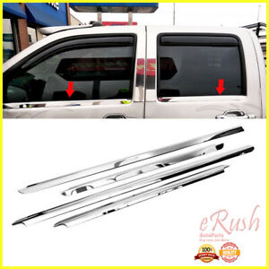 FOR CHEVY COLORADO CREW CAB CHROME STAINLESS STEEL WINDOW SILL SILLS TRIMS 4PCS