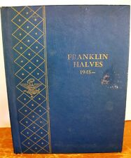 1960 Whitman Coin Book - Franklin Halves 1948 on - Nice!