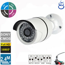 HD TVI  2.4MP 1080P 4 IN 1 Bullet Camera 3.6mm Lens 36 IR Sony CMOS Outdoor